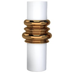 Ordini Large Vase with Mott White and Bronze Color by Analogia Project for Dria