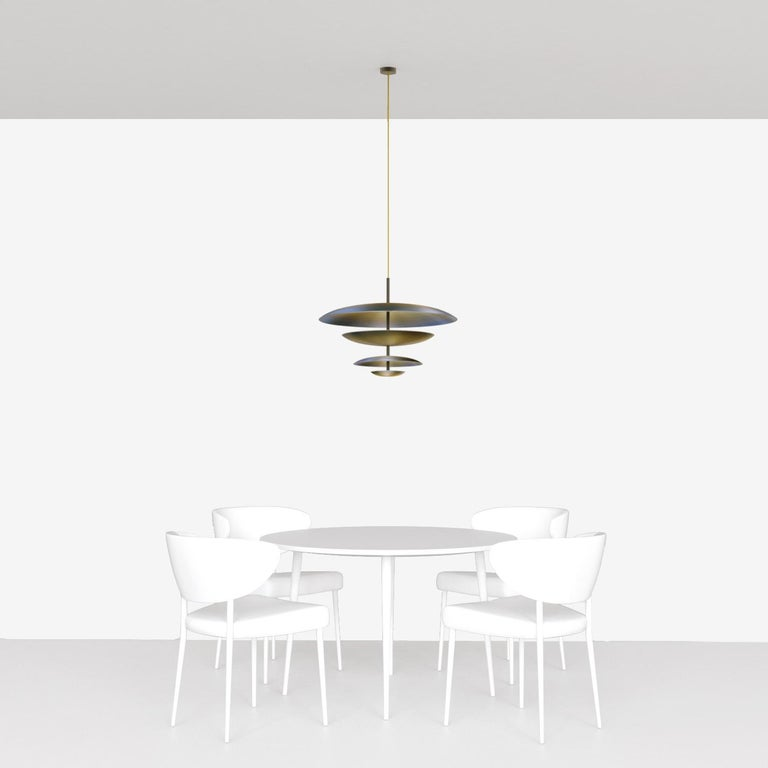 Ore Chandelier Patinated Brass Light, Ceiling Sculpture For Sale 4