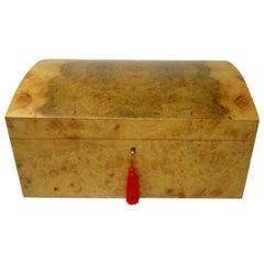Oregon-Myrtle Wood Jewellery Box Casket Manning of Ireland Irish, New