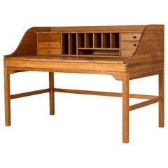 Oregon Pine Desk by Andreas Hansen for Hadsten Træindustri, Denmark, 1970s