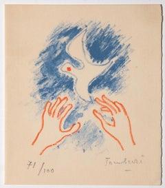 Bird - Original Lithograph by Orfeo Tamburi - 1964