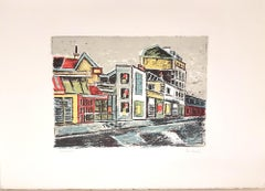 Paris - Original Lithograph by Orfeo Tamburi - 1970s