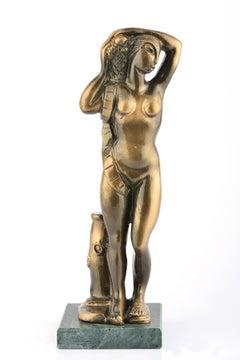 Hospitality - Bronze Sculpture by Orfeo Tamburi - Late 1900
