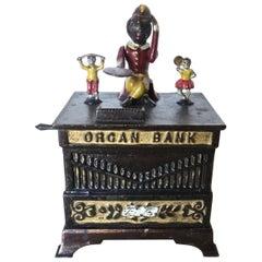 """Organ Bank"" with Boy and Girl, circa 1882, American"