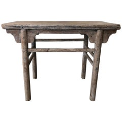 Organic Antique Asian Console in Poplar Wood, circa 1820-1830