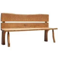 Organic Bench in Solid Oak, France