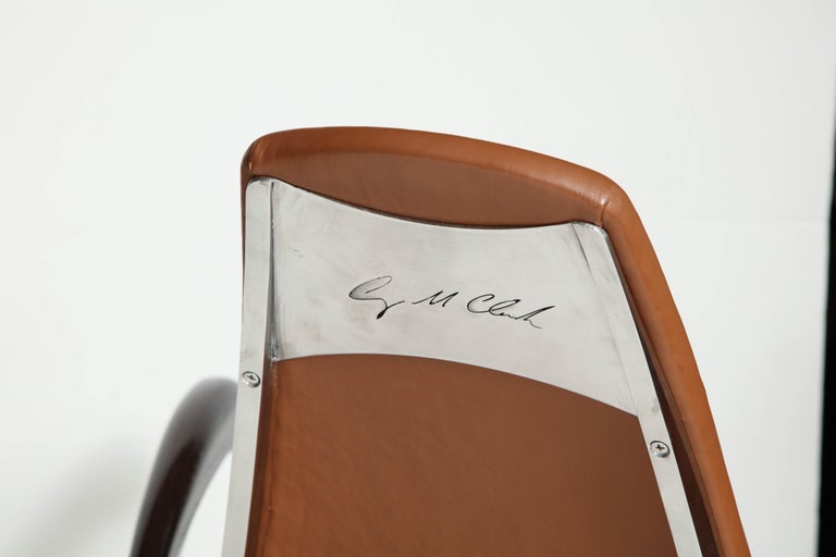 Organic Body Rocking Chair with Dynamic Curving Steel Frames For Sale 2
