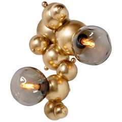 "Organic ""Bubbly"" Wall Light in Satin Brass"
