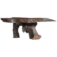 Organic Burl Rosewood Low Table