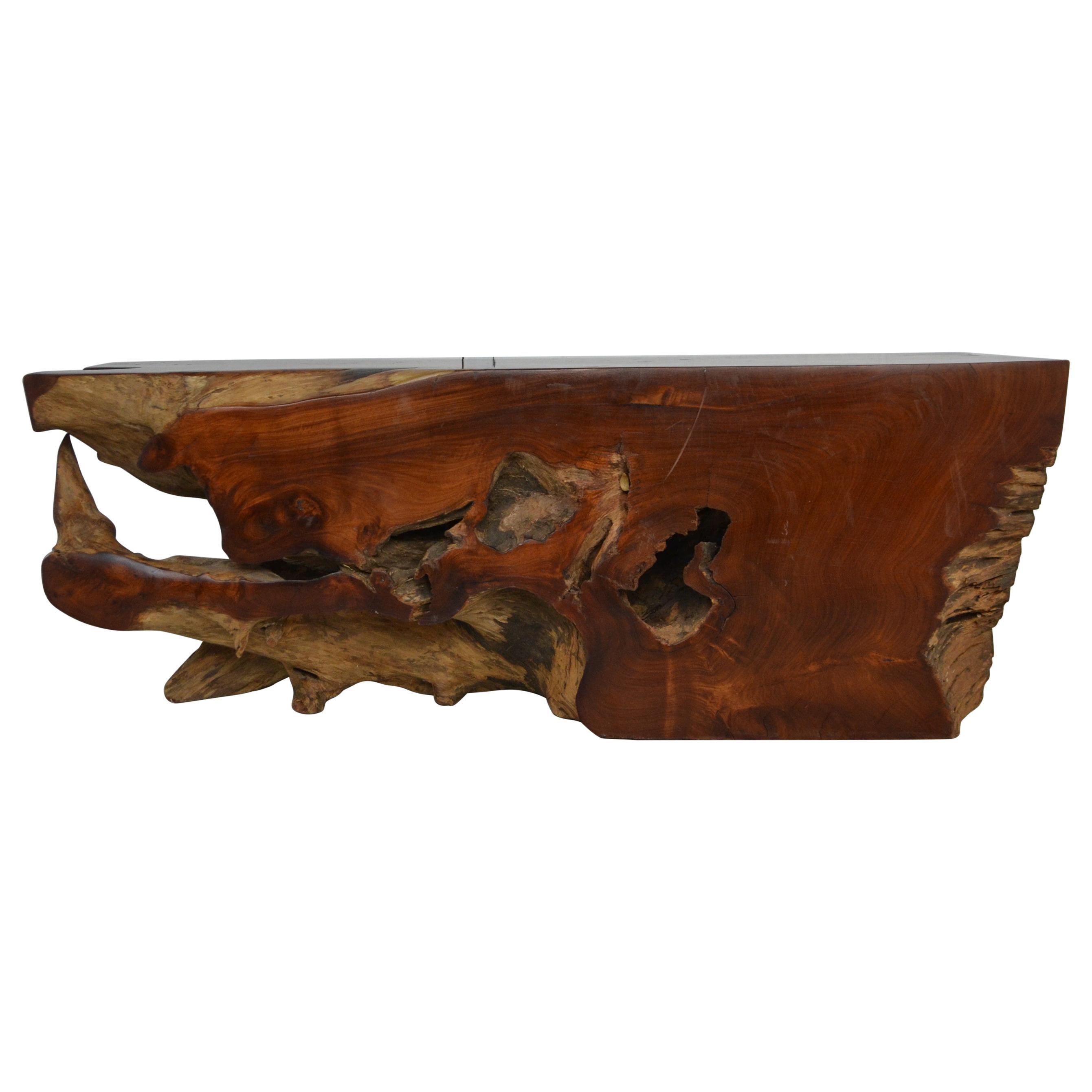 Organic Wood Bench