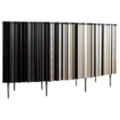 Organic Contemporary Bespoke Wood Bar by Luis Pons