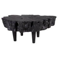 Organic Form Lychee Wood Coffee Table in an Ebony Finish