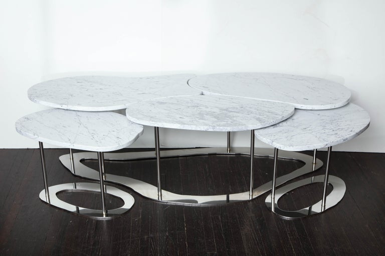 Organic Free-Form Marble Cocktail Table For Sale 6