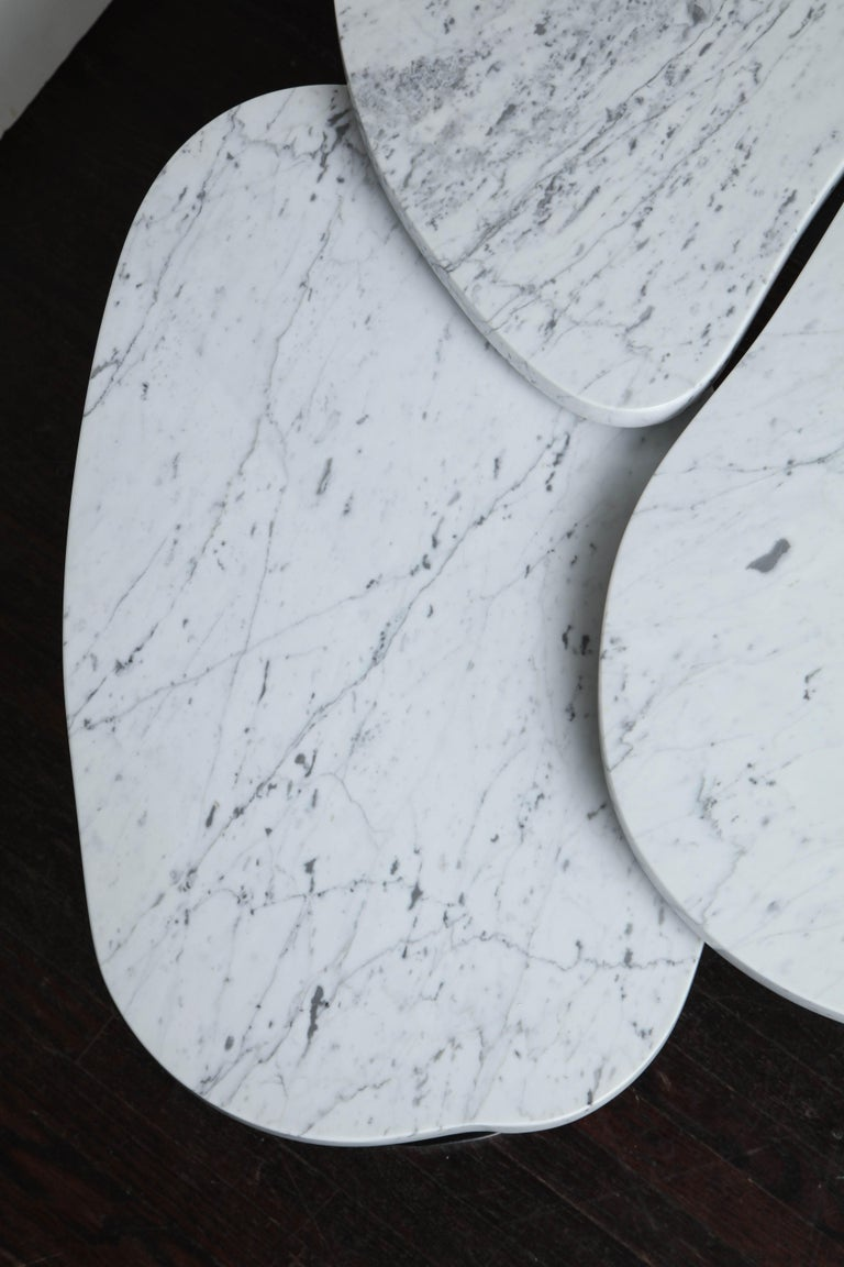 Organic Free-Form Marble Cocktail Table For Sale 1