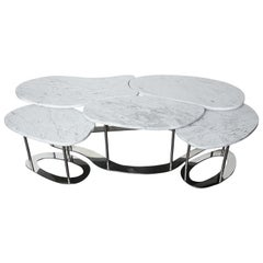 Organic Free-Form Marble Cocktail Table