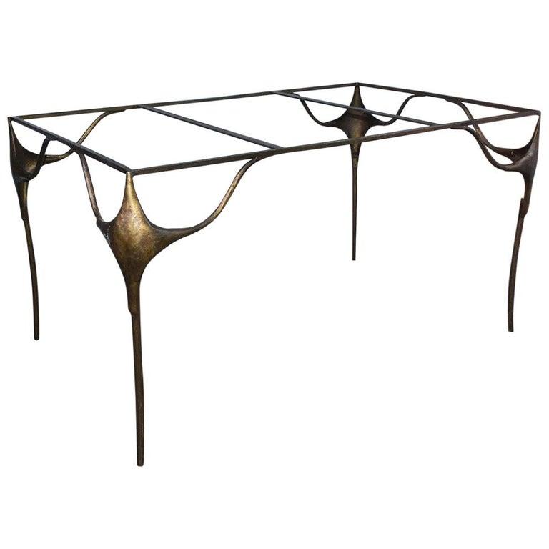 Organic Free Form Rectangular Dining Table Base