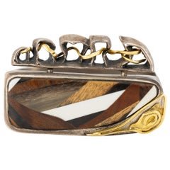Organic Gold, Silver and Horn Bracelet