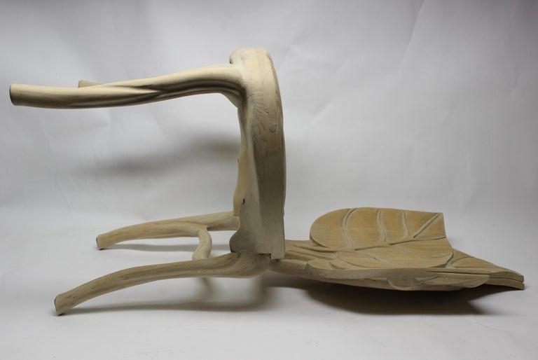 Italian Organic Leaf Shape Wood Chair by Bartolozzi and Maioli For Sale