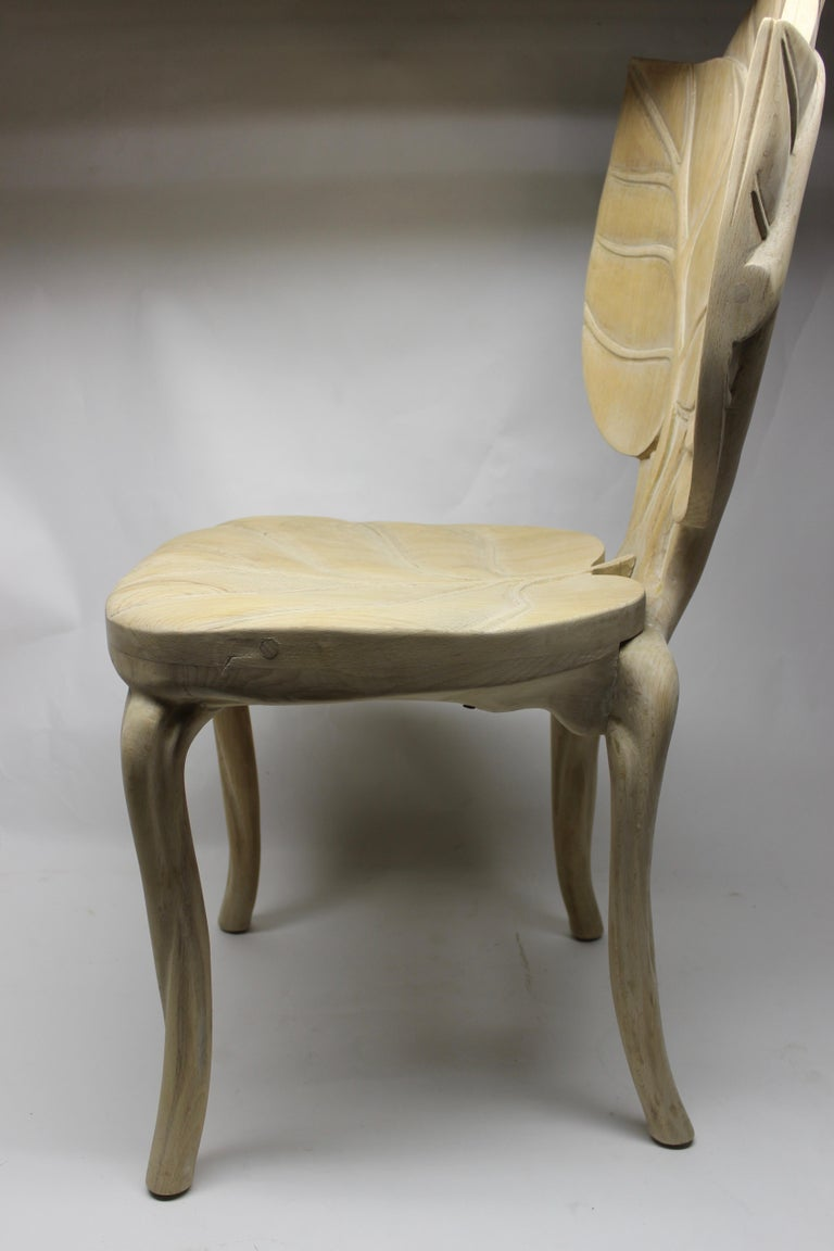 Organic Leaf Shape Wood Chair by Bartolozzi and Maioli In Excellent Condition For Sale In East Hampton, NY