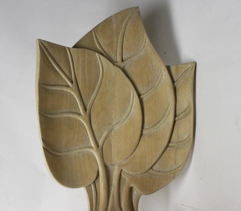 Late 20th Century Organic Leaf Shape Wood Chair by Bartolozzi and Maioli For Sale