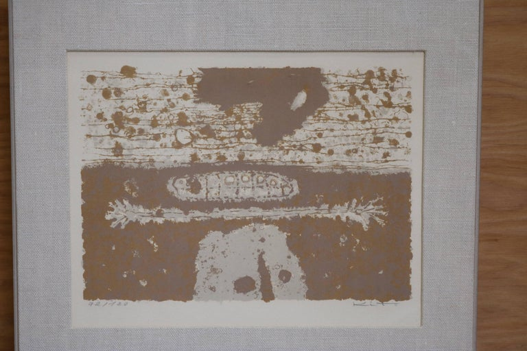 Mid-Century Modern Organic Lithograph by Japanese Artist Akira Kito For Sale