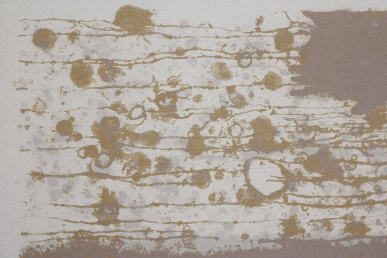 20th Century Organic Lithograph by Japanese Artist Akira Kito For Sale