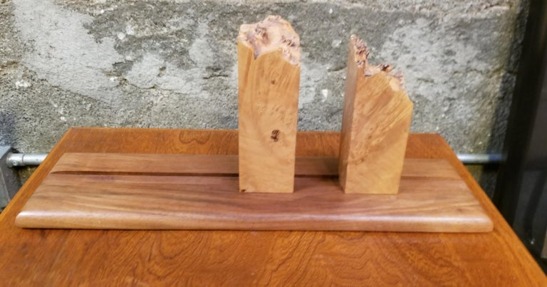 American Organic Live Edge Bookends by Michael Elkan For Sale