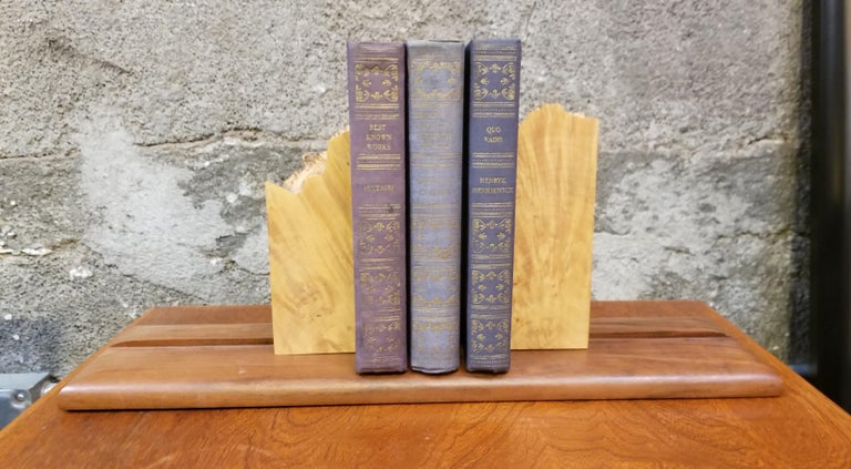 20th Century Organic Live Edge Bookends by Michael Elkan For Sale