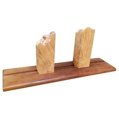 Organic Live Edge Bookends by Michael Elkan