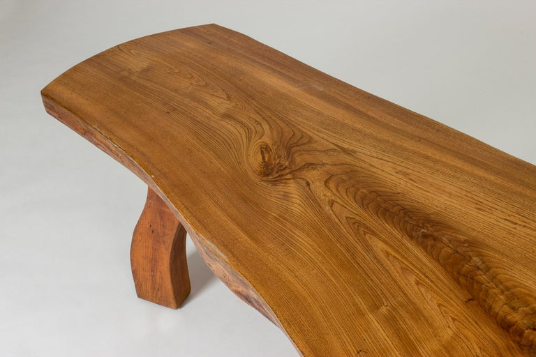 Scandinavian Modern Organic Live Edge Elm Coffee Table by Carl-Axel Beijbom for Simmlingegården For Sale