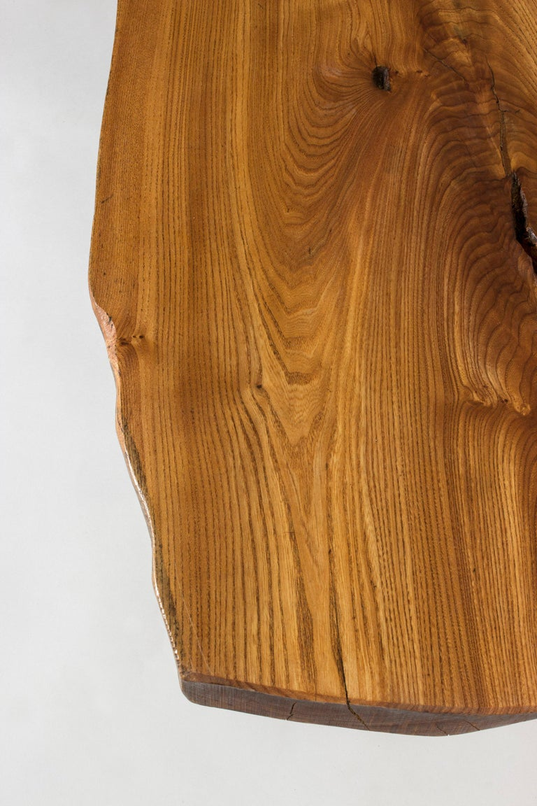 Mid-20th Century Organic Live Edge Elm Coffee Table by Carl-Axel Beijbom for Simmlingegården For Sale