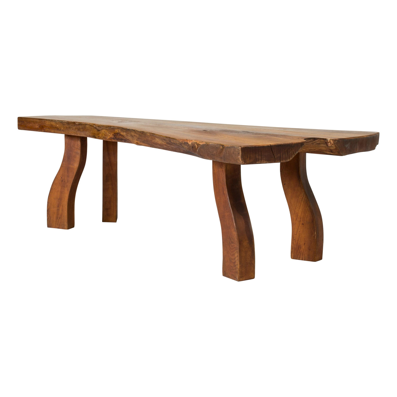Organic Live Edge Elm Coffee Table by Carl-Axel Beijbom for Simmlingegården