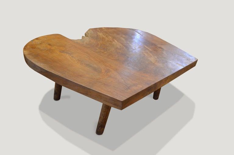 Mid-Century Modern Organic Midcentury Style Teak Wood Coffee Table For Sale