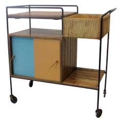 Organic Modern Arthur Umanoff Drinks Serving Cart