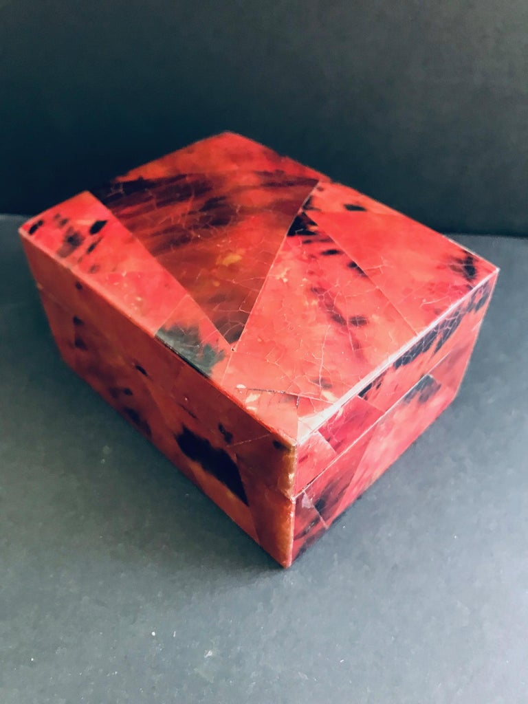 Organic Modern Box in Mosaic Pen-Shell by R&Y Augousti For Sale 5