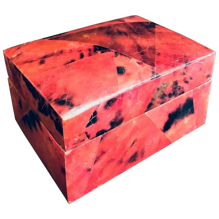 Organic Modern Box in Mosaic Pen-Shell by R&Y Augousti For Sale