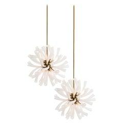 Organic Modern Chandelier, Eight Lights