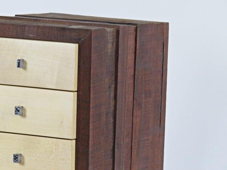 German Organic Modern, European, 21st Century, Drawer Cabinet, Dresser, Walnut, Maple For Sale