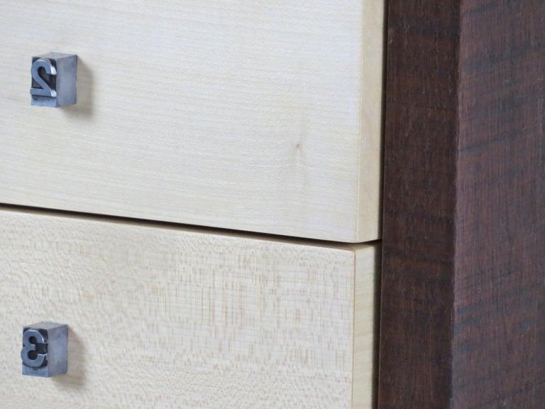 Organic Modern, European, 21st Century, Drawer Cabinet, Dresser, Walnut, Maple In New Condition For Sale In Dietmannsried, Bavaria