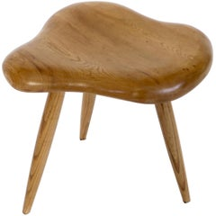 Organic Modern Freeform French Elm Wood Stool