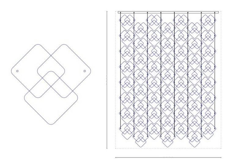 Organic Modern Italian Geometric Black Pink Aqua Murano Glass Curtain or Divider For Sale 8
