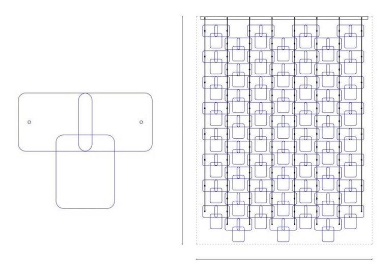 Organic Modern Italian Geometric Black Pink Aqua Murano Glass Curtain or Divider For Sale 9