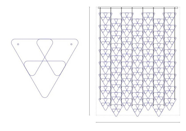 Organic Modern Italian Geometric Black Pink Aqua Murano Glass Curtain or Divider For Sale 10