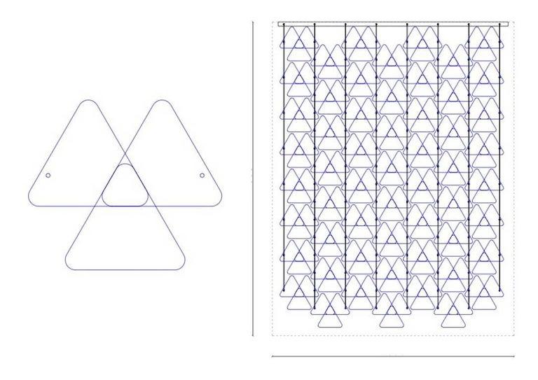 Organic Modern Italian Geometric Black Pink Aqua Murano Glass Curtain or Divider For Sale 11