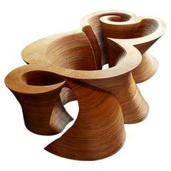 Organic Modern Laminated Baltic Birch Coffee Table