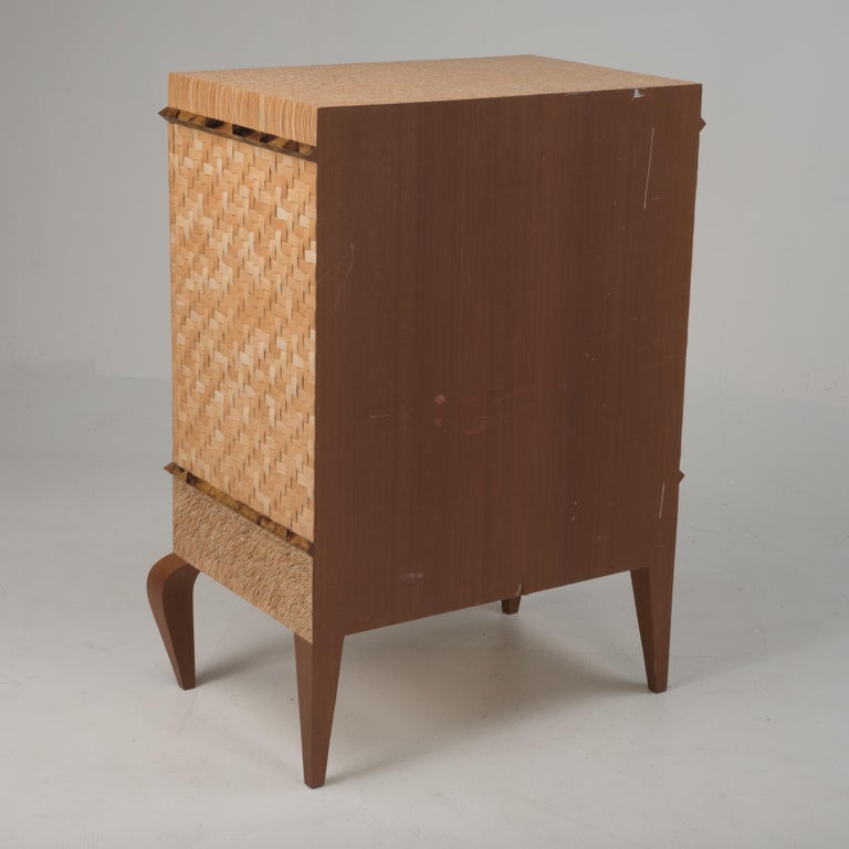 Organic Modern Meticulously Hammered Coconut Shell Cabinet For Sale 8