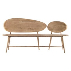 Organic Modern Natural Wood Bench