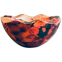 Organic Modern Pen-Shell Bowl with Mosaic Inlays by R&Y Augousti