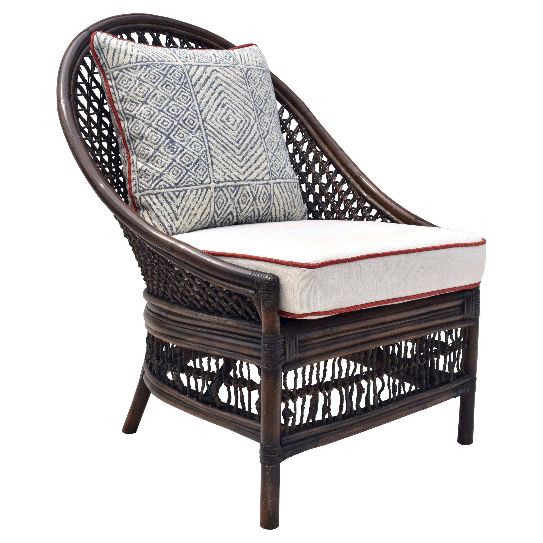 Organic Modern Rattan Fanback Peacock & Curved Back Chair