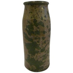Organic Modern Rustic American Salt Glaze Crock Pottery Vase, Early 20th Century